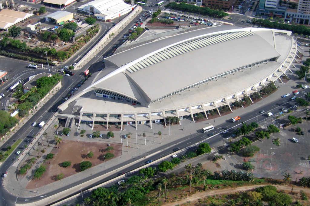 Vista aérea del recinto ferial de tenerife