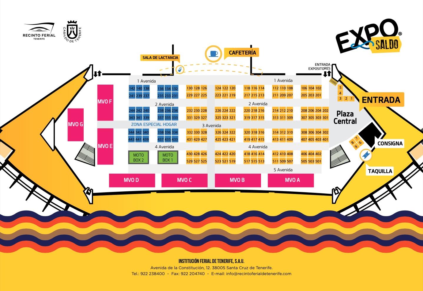 plano de Exposaldo 2021, recinto ferial de tenerife